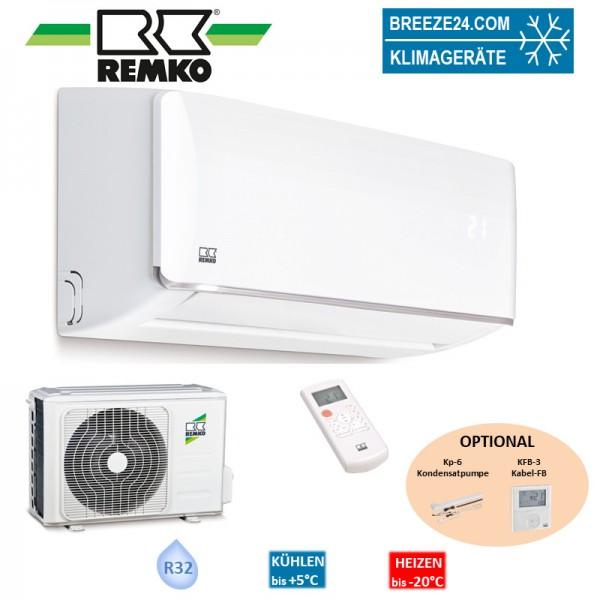 Remko Set Wandgerät 7,0 kW - ML 685 ARCTIC + Wärmepumpe R32 Klimaanlage