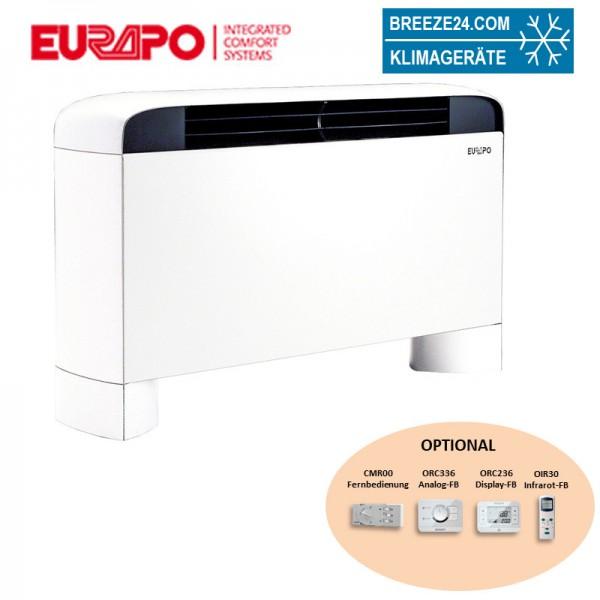 Eurapo Wand - Truhengerät Sphera 3,12 kW Kaltwasser ESF40 zum Kühlen und Heizen