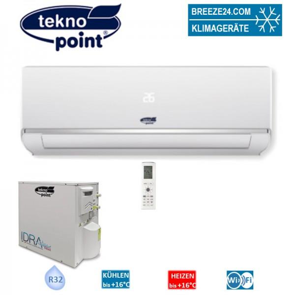 Tekno Point Set Wandgerät Eco 5,2 kW Kaltwassersatz SKIV-18 + IDRA-E18H R32 Klimaanlage zum Kühlen u