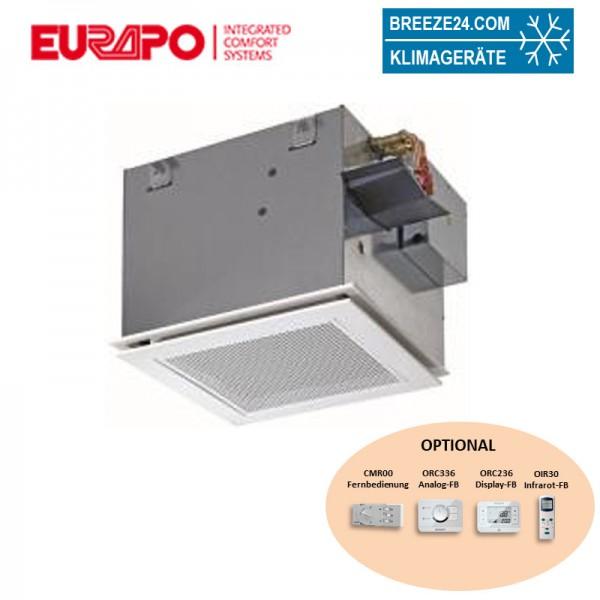 Eurapo Deckenkassette 2,78 kW - ESTUCS/HM621-VDI6022-C 4-seitig ausblasend zum Kühlen und Heizen