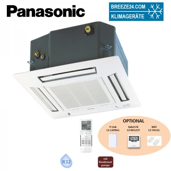 Panasonic CS-MZ20UB4EA 4-Wege-Deckenkassette mit Blende CZ-BT20EW (nur Multisplit) 2,0 kW