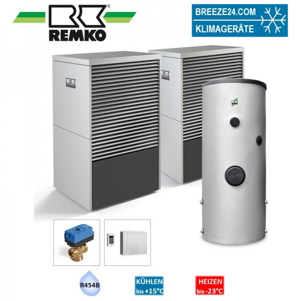 Remko Set Wärmepumpe LWM 110 Duo ALU Typ Mannheim 12,0 kW