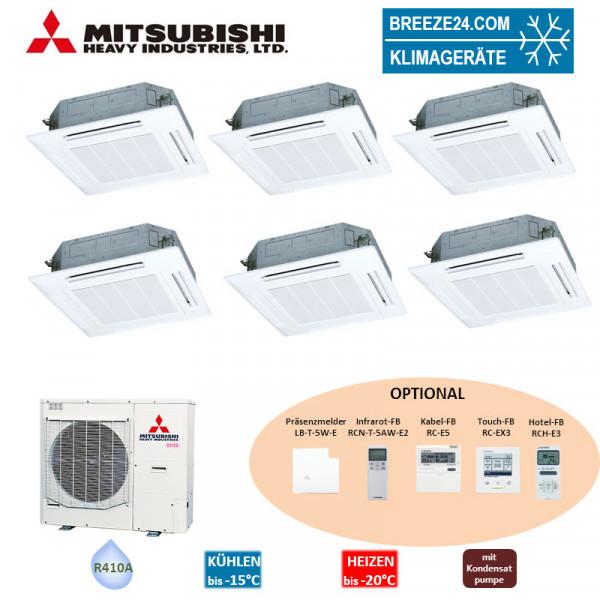 Set 6 x FDT 28 KXZE1 4-Wege-Deckenkassette + FDC140KXZEN1 VRF Mitsubishi Heavy Klimaanlage