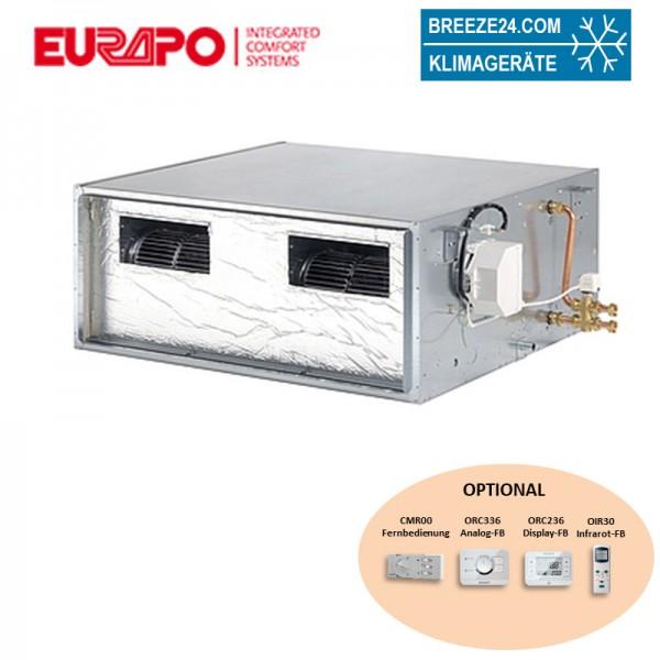 Eurapo EBH Kanalgerät 20,98 kW - ESTEBH060 mit hoher statischer Pressung zum Kühlen und Heizen