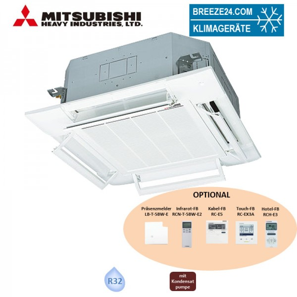 Mitsubishi Heavy 4-Wege-Deckenkassette 16kW - FDT 160 KXZE1-W Komfortpaneel T-PSAE-5BW-E VRF R32