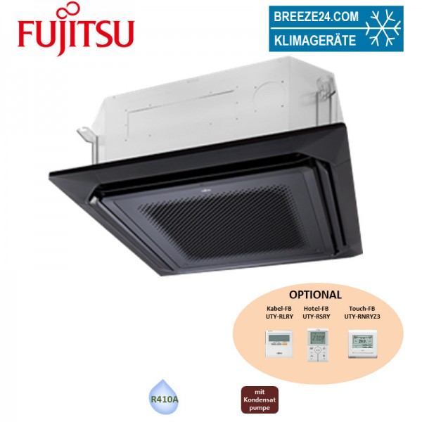 Fujitsu VRV schwarz Slim 4-Wege-Deckenkassette AUXK 034GLEH - 10,0 kW