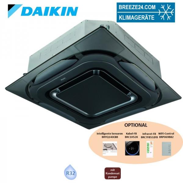 Daikin Deckenkassette 13,4 kW - FCAG140B mit Blende BYCQ140EPB Design schwarz R32