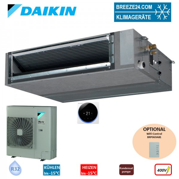 Set FBA125A Kanalgerät (Fernbedienung wählbar) + RZASG125MY1 400V