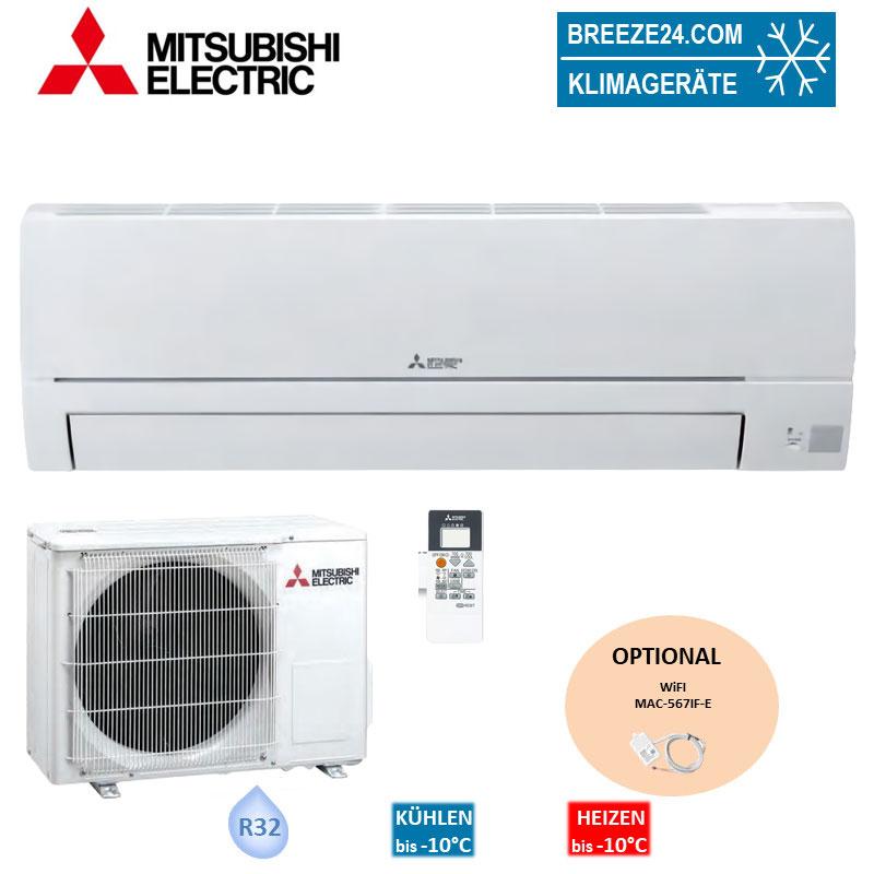 Mitsubishi Electric Set Wandgerät Basic 2,5 kW - MSZ-HR25VF+ MUZ-HR25VF R32 Klimaanlage