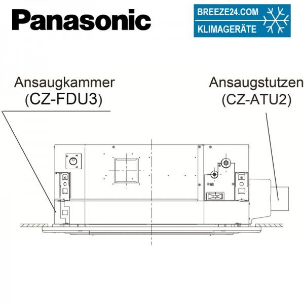 CZ-FDU3 + CZ-ATU2 Frischluft-Ansaugkammer + Kanalstutzen Kit für Frischluftkammer