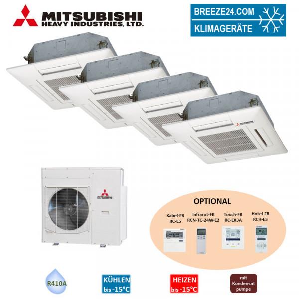 Set 2x FDTC 25 VF + 2 x FDTC 50 VF 4-Wege-Deckenkassette + SCM 100 ZM-S Mitsubishi Heavy Klimaanlage