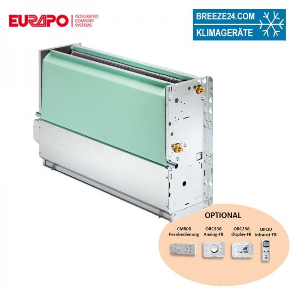 Eurapo Truhengerät 1,1 kW Kaltwasser CV110 zum Kühlen und Heizen ohne Verkleidung