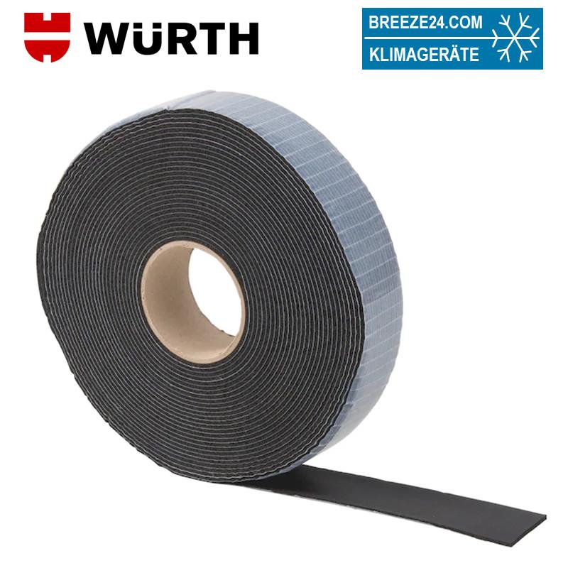 Kautschuk-Wickelband schwarz zum Verkleben von isolierten Kältemittelleitungen/Armaflex Isolierungen