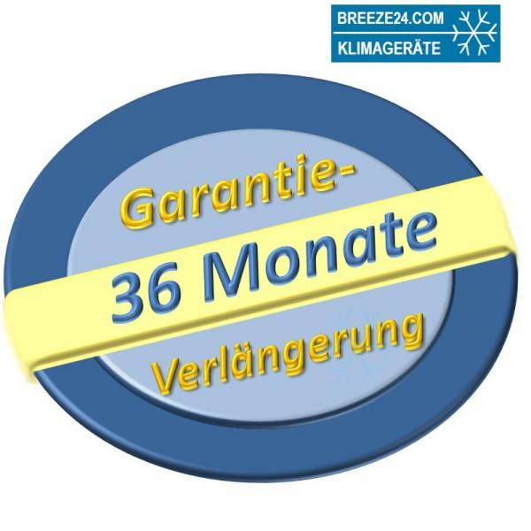 Garantieverlängerung für Klimaanlage Sets bis 7,5 kW von 24 auf 60 Monate