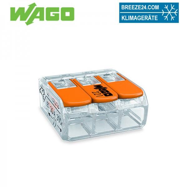 WAGO Verbindungsklemme 3polig Compact mit Hebel transparent