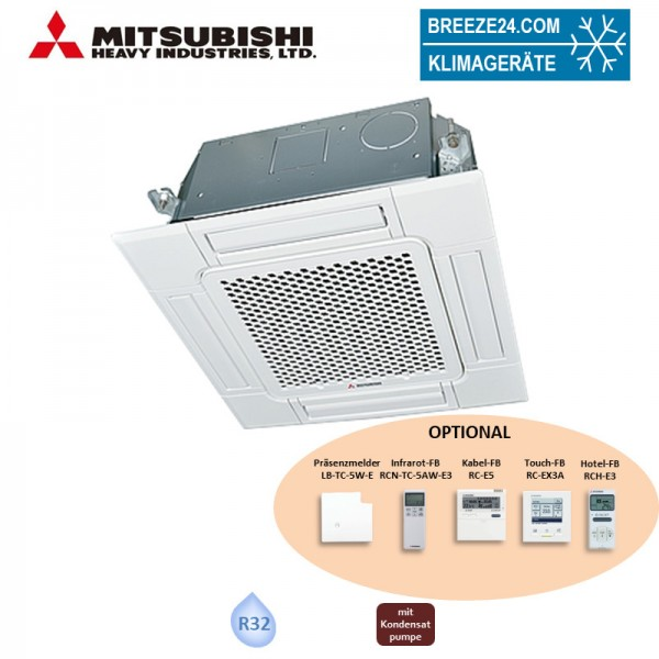 Mitsubishi Heavy FDTC40VH 4-Wege-Deckenkassette Euroraster Standardpaneel TC-PSA-5AW-E (Nur Monospli