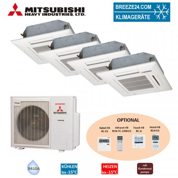 Set 3 x FDTC 25 VF + FDTC 35 VF 4-Wege-Deckenkassette + SCM 71 ZM-S Mitsubishi Heavy Klimaanlage