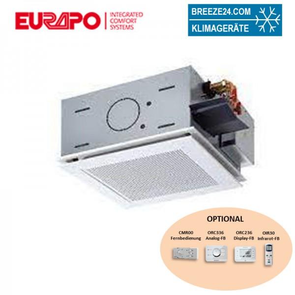 Eurapo Deckenkassette 3,02 kW - ESTUCS/M621 4-seitig ausblasend zum Kühlen und Heizen