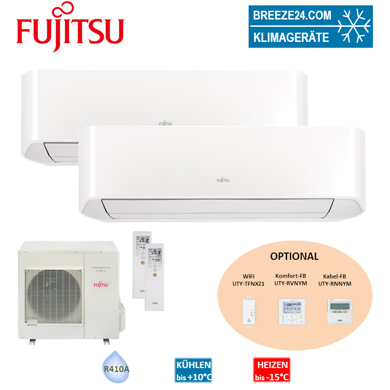 Set 2 x ASYG 09LMCE Kompakt Wandgerät + AOYG 14LAC2 Fujitsu Klimaanlage