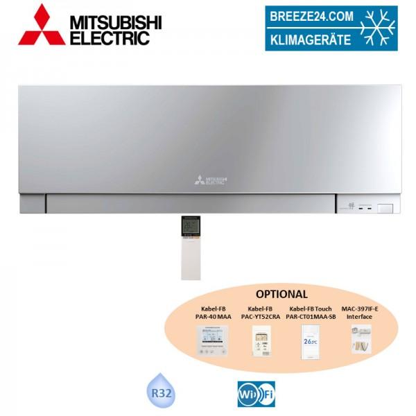 Mitsubishi Electric Wandgerät 2,2 kW Premium in Silber MSZ-EF22VGKS (nur Multisplit) R32 Klimaanlag