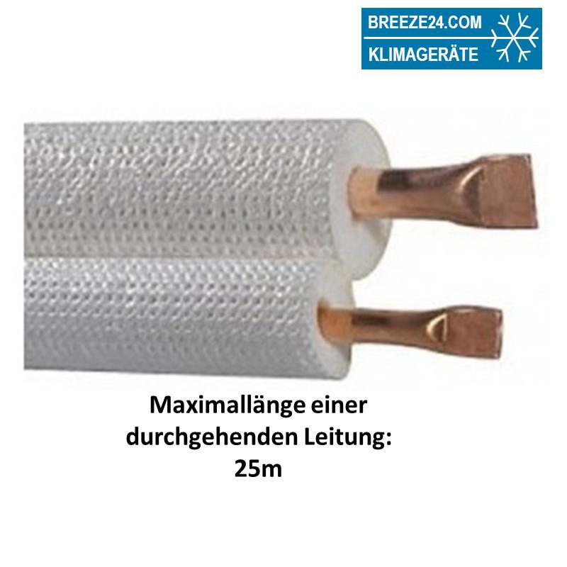 "1/4"" / 3/8"" (6/10mm) DUO-Kältemittelleitung isoliert"