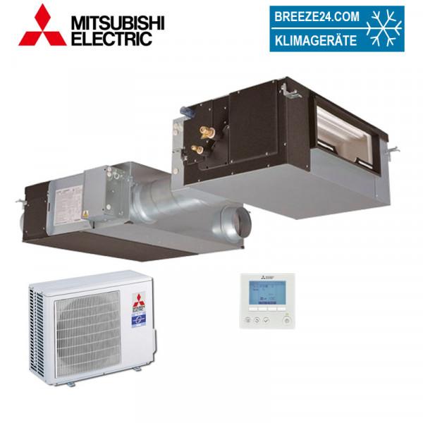Mitsubishi Electric LGH-100RVX-E + GUG-02SL-E + PUHZ-ZRP50VKA Kanalgerät mit GUG Wärmetauscher und A