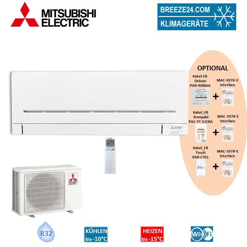 Mitsubishi Electric Klimaanlage Wandgerät mit WiFi 3,5kW R32 MSZ-AP35VGK + MUZ-AP35VG Set