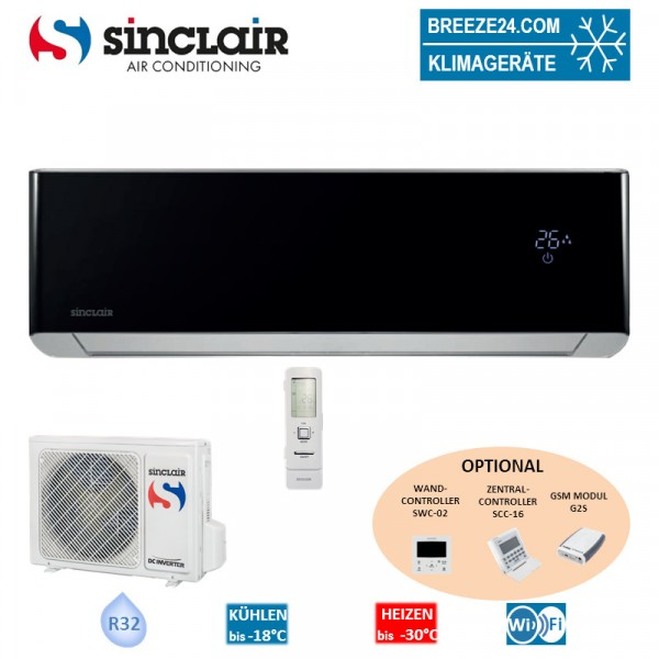 Sinclair Set Wandgerät Spectrum Plus 3,6 kW - ASH-13BIS2B + Außengerät R32 Klimaanlage