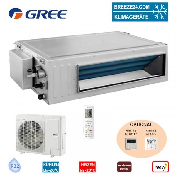 GREE Set Kanalgerät 16,0 kW - GUD-160-PHS + GUD-160-WAX R32 Klimaanlage 400V