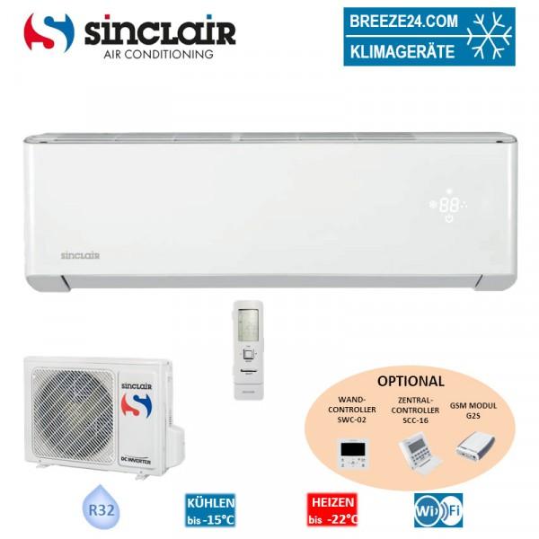 Sinclair Set Wandgerät Spectrum 3,5 kW - ASH-13BISW + Außengerät R32 Klimaanlage