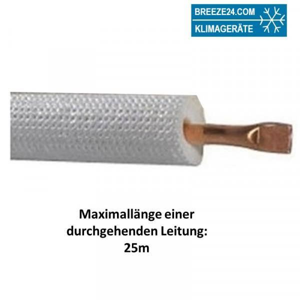 """3/8"""" (10mm) Einzel-Kältemittelleitung isoliert"""