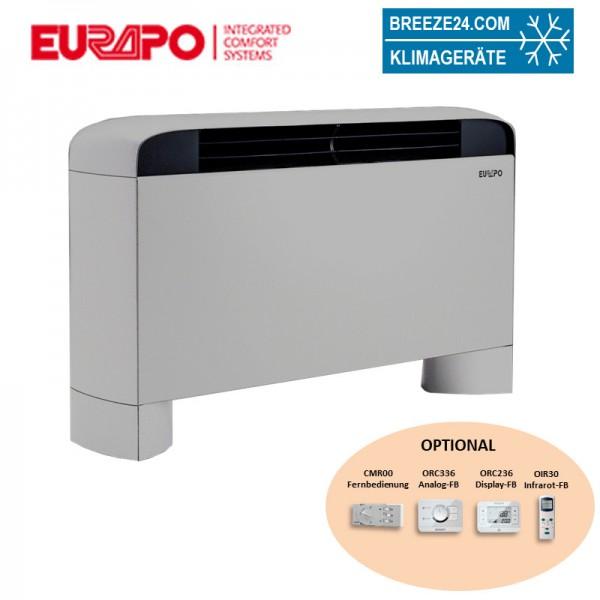 Eurapo Wand - Truhengerät Sphera 1,94 kW Kaltwasser ESFLUX20 zum Kühlen und Heizen