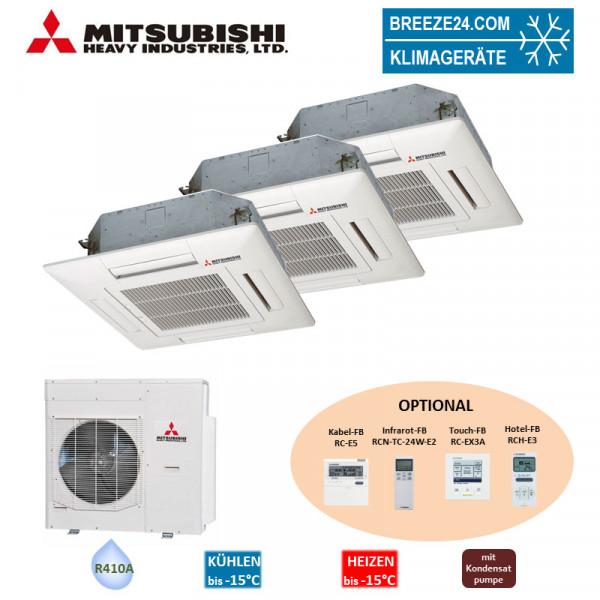 Mitsubishi Heavy Set 3 x 4-Wege-Deckenkassette 5,0/6,0 kW - FDTC 50 VF + 2 x FDTC 60 VF + SCM125ZM-S