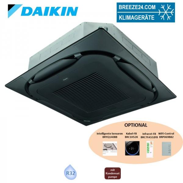 Daikin Deckenkassette 6,8 kW - FCAG71B-3 mit Blende BYCQ140EB standard schwarz R32