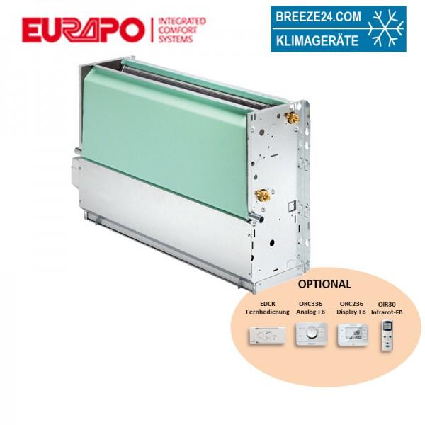 Eurapo Truhengerät 5,05 kW Kaltwasser ESTCV520 zum Kühlen und Heizen ohne Verkleidung