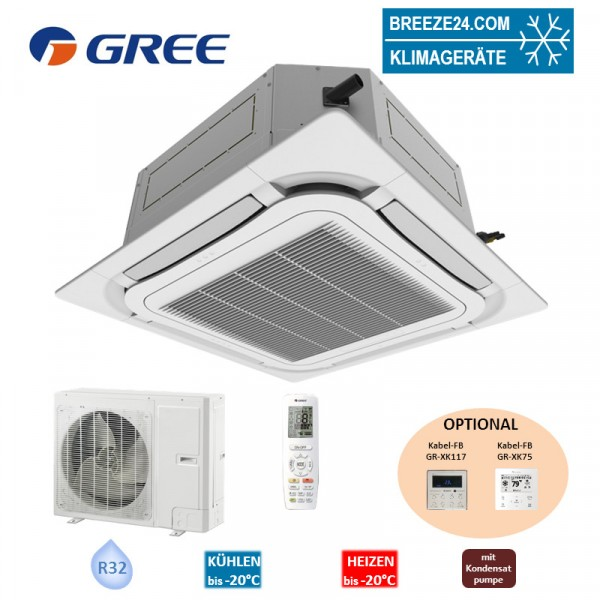 GREE Set 4-Wege-Deckenkassette 8,5 kW - GUD-085-TA + GUD-085-WAT R32 Klimaanlage