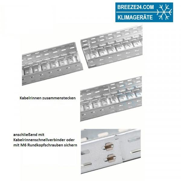 Metallkabelrinne 60 x 100 x 2000 mm verzinkt (mit/ohne Deckel)