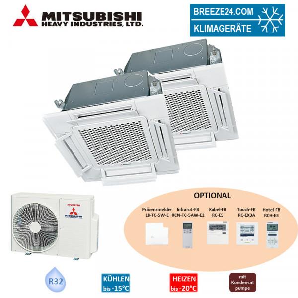 Set FDTC 25 VH + FDTC 60 VH 4-Wege-Deckenkassette Komfortpaneel + SCM 60 ZS-W R32