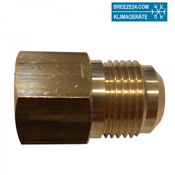 Aufschraubnippel UR3-68 A5/8x3/4UNF (12 auf 10) mit Dichtring