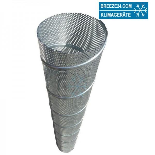Wickelfalzrohr perforiert rund verzinkt Länge 1 m (d1 80 - 280 mm)
