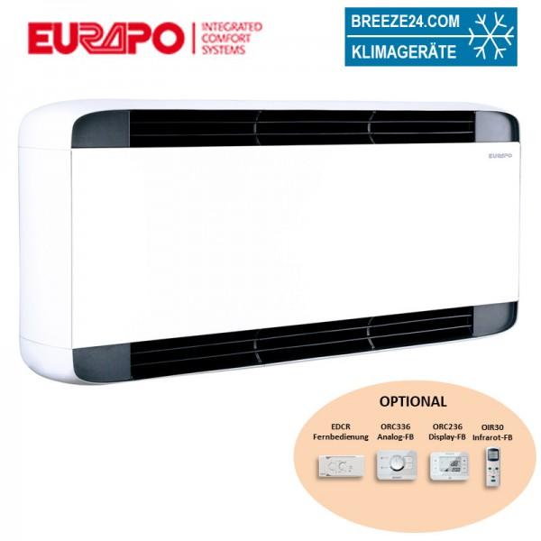 Eurapo Wand - Truhengerät Sphera 2,03 kW Kaltwasser ESTESW20 zum Kühlen und Heizen