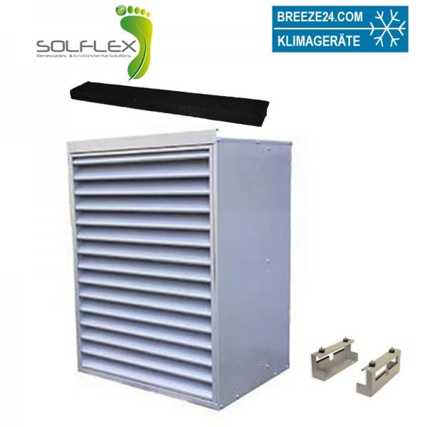 HCS200NP Solflex Schallschutzgehäuse mit Fußkonstruktion und Schalldämmungsstreifen
