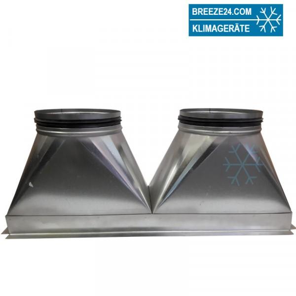 Kanaladapter Abluft für SRR 25 Übergang 2 x NW 200 mm