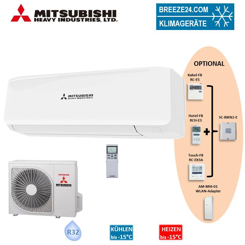 Mitsubishi Heavy Set Wandgerät 3,5 kW - SRK35ZS-W + SRC35ZS-W R32 Klimaanlage