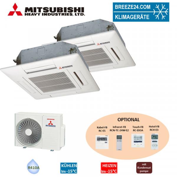 Set FDTC 25 VF + FDTC 50 VF Deckenkassette Euroraster + SCM 50 ZS-S Mitsubishi Heavy Klimaanlage