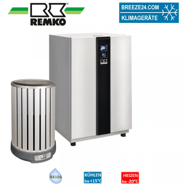 Remko Set HTS 80 + Wärmepumpe (Alu/Holzoptik) 4,5 kW