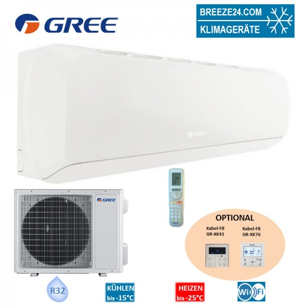 GREE Set Wandgerät G-Tech 3,5 kW - GWH-12-AEC-I + GWH-12-AEC-0 R32 Klimaanlage