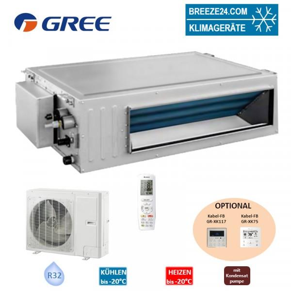 GREE Set Kanalgerät 7,0 kW - GUD-071-PS + GUD-071-WAT R32 Klimaanlage