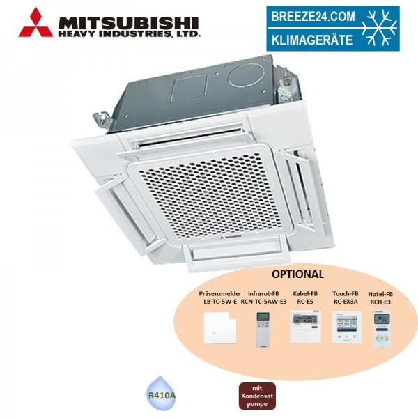 Mitsubishi Heavy Deckenkassette-Euroraster 4,5kW - FDTC 45 KXZE1 Komfortpaneel TC-PSAE-5AW-E KX