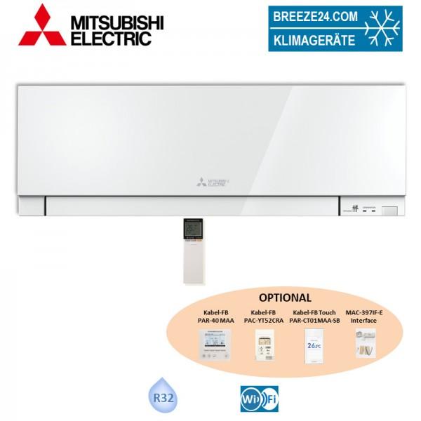Mitsubishi Electric Wandgerät 5,0 kW Premium in Weiss mit integriertem Wifi - MSZ-EF50VGKW - R32 Kli